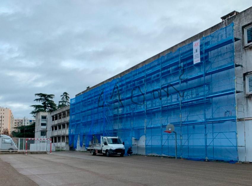 NIMES - École Capouchiné pendant les travaux